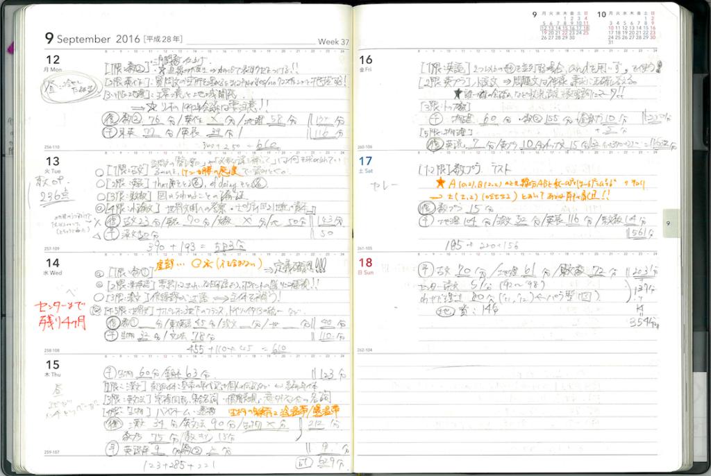 勉強計画 手帳